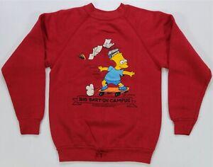 Rare VTG SSI The Simpsons Big Bart on Campus 1990 Skater Sweatshirt 90s SZ 10/12