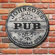 Custom carved Bar sign - Personalized - Pub sign - Round Wood sign- Man cave