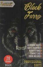 IgnatGames Black Furry Steel Tip Professional Dart Set, 20 Grams
