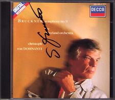 Christoph von DOHNANYI Signiert BRUCKNER Symphony No.9 Cleveland DECCA CD 1989