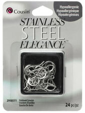 Stainless Steel Elegance Fishhook Ear Wires With Coil (12 Pair)