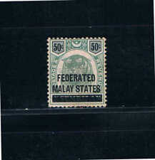 Federted Malay States 1900 50¢ Tiger Head on Negri Sembilan  SC 8 [SG 8] Mint 19