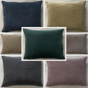 High Quality Handmade Rectangle Fernando Suede Like Cushion Cover Sofa Zipper