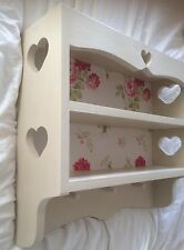 Hand made kitchen peg Heart shelf unit & Cath Kidston wallpaper Ready to Paint