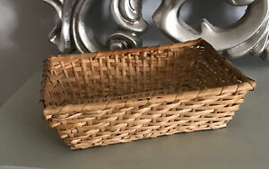 "Small Rectangular Display Gift Storage Woven Bamboo Basket Hamper 10"" X 7"""