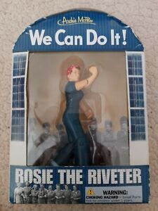 """Rosie the Riveter 5"""" Action Figure Accoutrements 125610 Girl Power Archie McPhee"""
