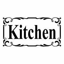 Kitchen Door Sign  - Vinyl Decal Sticker