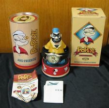 NIB Popeye Brutus Fossil Limited Edition Watch Figurine Stand Wristwatch Cartoon