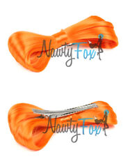 Sexy Orange Lady Gaga Hair Bow Clip On Wig Halloween Costume Hair Accessory