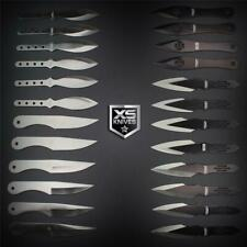 """24pc Mixed Black THROWING KNIVES Ninja Kunai Throwers 5.5"""" Stainless w/ POUCH"""
