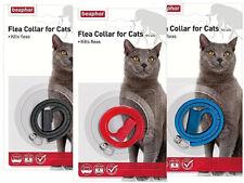 BEAPHAR PLASTIC WATERPROOF CAT KITTEN FLEA COLLAR 4 MONTH PROTECT 3 COLOURS 2128