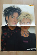 Roxette Autogramme signed Poster 28x41 cm gefaltet