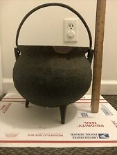 Antique 15 Gal. Cast Iron Witches Potion Cauldron Planter Halloween Prop Patina
