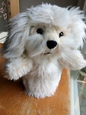 "Gund Dreyfus Shaggy Puppy Dog Hand Puppet #60157 With Tush Tag 12"" Creamy White"