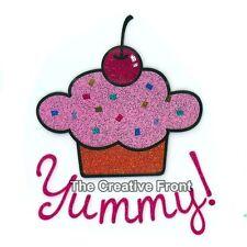 Yummy! Cupcake - DIY Iron On Glitter T-Shirt Heat Transfer - NEW