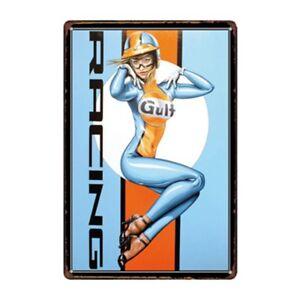 Metal Tin Sign gulf racing Bar Pub Home Vintage Retro Poster Cafe ART