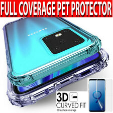 Samsung S20,Ultra 5G,Plus Case CLEAR Shockproof Silicone Cover Screen Protector