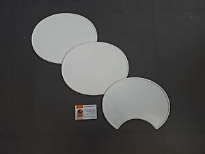 TRIALS, ENDURO, AMA RACE WHITE PLASTIC OVAL NUMBER BOARDS ,FLAT TRACK
