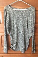 Maurices Women Shirt S Gray Long Sleeve