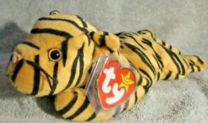 1`Ty Beanie Baby Stripes the Tiger DOB June 11, 1995 MWMT Free Shipping