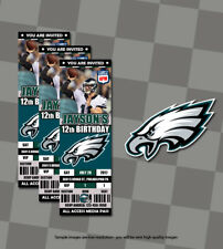 NFL Philadelphia Eagles Custom Sports Ticket Birthday Invitations 20 w/Envelopes