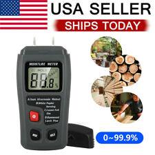Digital Wood Moisture Meter Detector Tester Lcd Wood Firewood Paper Cardboard