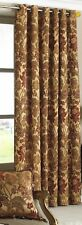 EYELET HEADING THICK HEAVY WEIGHT GOLD CHENILLE TAPESTRY SINGLE DOOR  CURTAIN