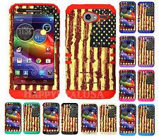 KoolKase Hybrid Cover Case for Motorola Electrify M XT901 - American Flag