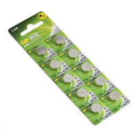 GP LR44 AG13 A76 Batteries 10 pcs Original Packing FREE POST Worldwide NEW U