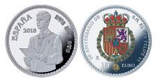 ESPAÑA 10 euro plata 2018 proof 50 Aniv. de S.M. Rey Felipe - 8 reales (tipo 1)