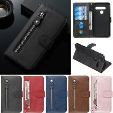 Luxury Zipper Wallet Leather Flip Stand Cover Case For LG K40S K50S K40 Stylo 5