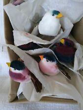Decorative Crafts Painted Styrofoam Birds (12). Floral arrangements etc