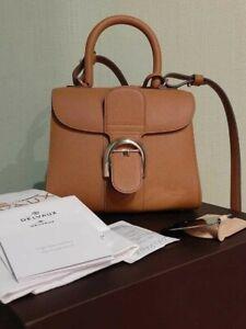 Authentic Delvaux Brilliant Bag Brown Colour Size Mini PM