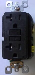 Leviton SmartlockPro Slim GFCI GFI Tamper Resistant Receptacle 20A Brown