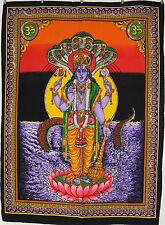 Indien Hindu Gott Vishnu Pailletten Besetzt Wandbehang Fair Trade Große