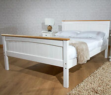 Real Wood Double Size Bed Solid Wooden Frame 4FT Premium Luxury Vintage Bedstead