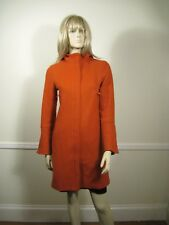 Product Woman's Coat Size M Wool Orange MOD Vintage 1960 Hood Check for Fit