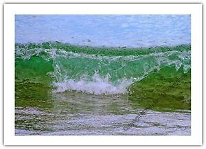 Ocean Waves Blue Sea Beach Coast Holiday Greetings Card Birthday / Blank Notelet