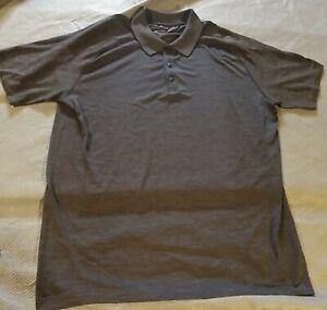Lululemon Propel Polo Shirt Mens XL Short Sleeve Stretch  Dark Gray