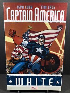 Captain America: White By Loeb & Sale - Marvel Comics Graphic Novel TPB - Rare!