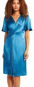 NWT Elie Tahari Women's Silvana Shift Dress Fountain Blue $468 Size 2