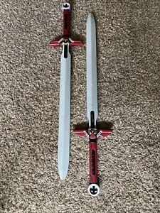 (x2) NERF N-Force Marauder Sword Red Foam Power Sword