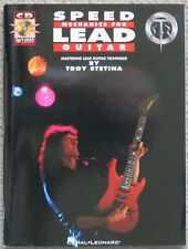 TROY STETINA: Speed Mechanics for Lead Guitar book + CD