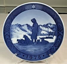 1978 Royal Copenhagen Plate Kai Lange Greenland Scenery Cobalt Blue