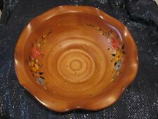 Wonderful decorative bowl with floral decoration made in Rodos 1988 9ins wide