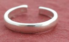 Sterling Silver Toe Ring Solid 925 Super Shiny Toering Plain 3mm wide
