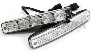 DRL 5x LED 9-32V Daytime Running Light Kit - 900lm 6000K White