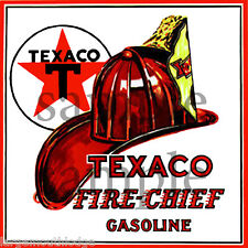 6 INCH TEXACO FIRE CHEIF DECAL STICKER