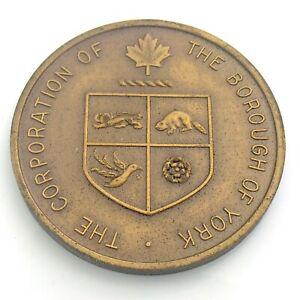 1968 Vintage Wellings Mint Borough York Centennial Building Medallion Token K301
