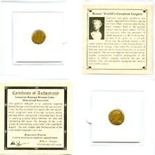 Authentic Ancient Rome,The World's Greatest Empire Coin Mini Album & Certificate